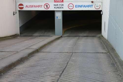 Underground Car Park Gateway Downhill