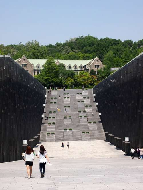 University Ewha Girls Students Stairs