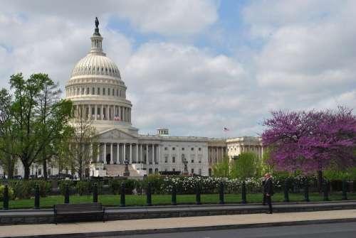 Us Capitol Building Architecture Clouds