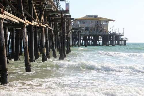 Usa Santa Monica Beach Beach Santa Monica