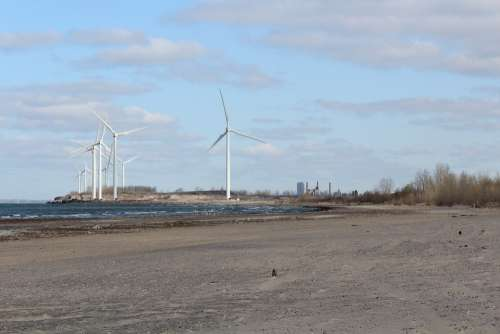 Usa Erie Lake Beach Wind Power