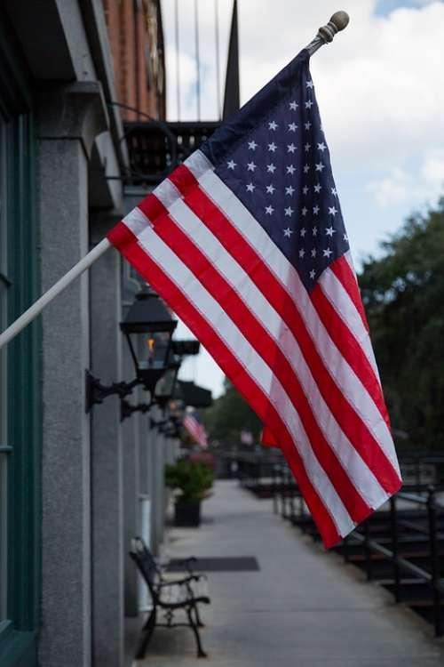 Usa Flag Georgia Building America Patriotic