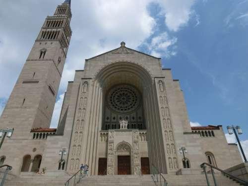Usa Church Washinton Basilica Of The National Shrine