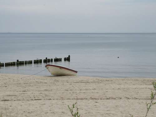 Usedom Beach Water Boat
