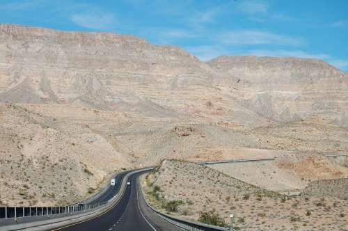 Utah Highway Road Usa Scenic Desert Pavement
