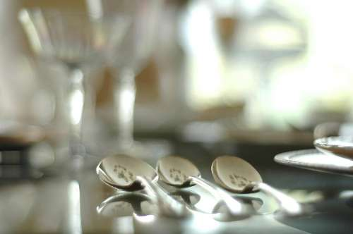 Utensils Spoon Cutlery Silver Kitchen Eating