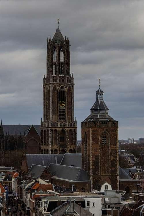 Utrecht Dom Tower Center Tower Church Church Tower