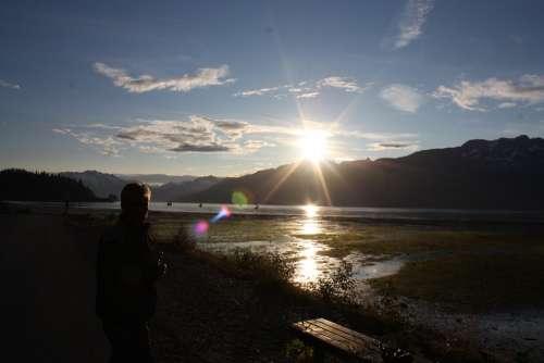 Valdez Alaska Sunset Twilight Dusk Landscape