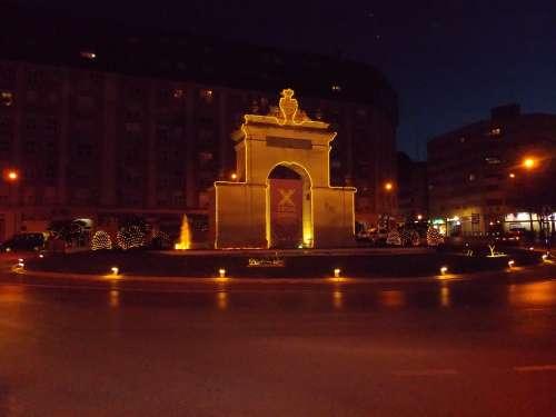 Valencia Spain Night Evening Lights Lighting