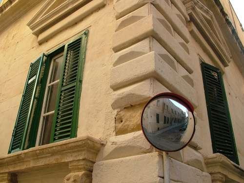 Valetta Malta City Mirror