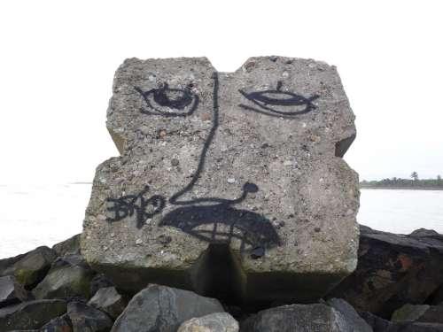 Vandalism Beach Lighthouse