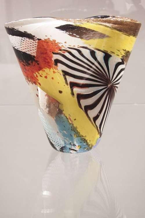 Vase Glass Colorful Dino Martens Design Classic
