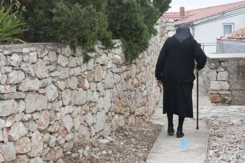 Vecchietta Walk Country Elderly Stick Slow Walk