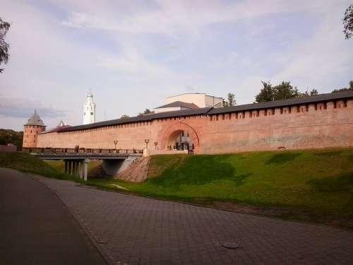 Veliky Novgorod Architecture Wall Gate Castle