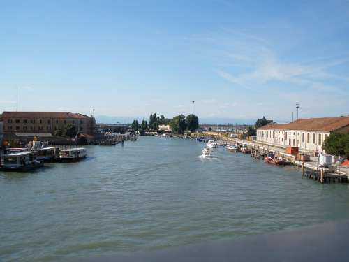 Venice Town On The River Small Venice Water Italy