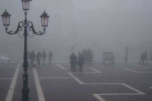 Venice Lantern Channels Fog Haze