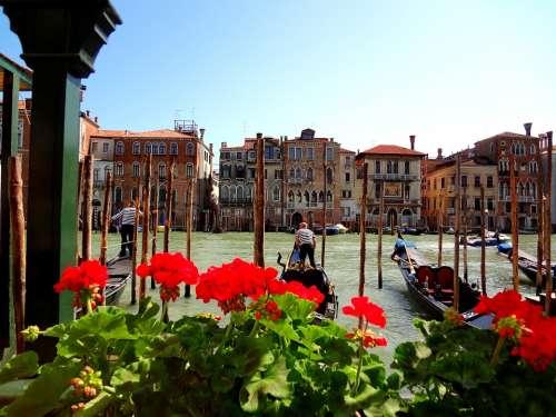 Venice Italy Gondola'S Canal