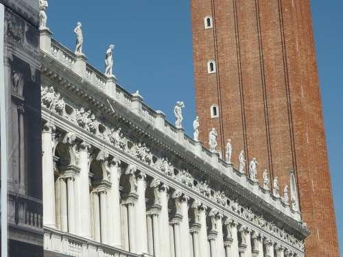 Venice Italy Statue Sculptures Building