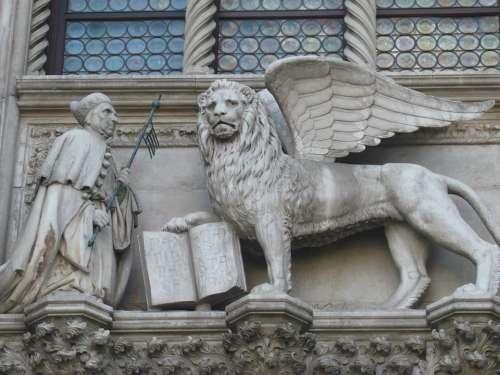 Venice Italy Lion Statue