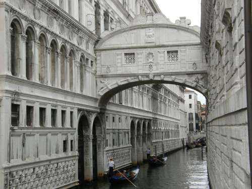 Venice The Bridge Of Sighs Italy