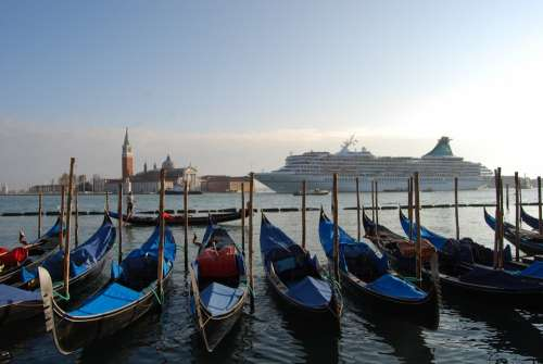 Venice Italy Gondola Sea Ship Cruise Island