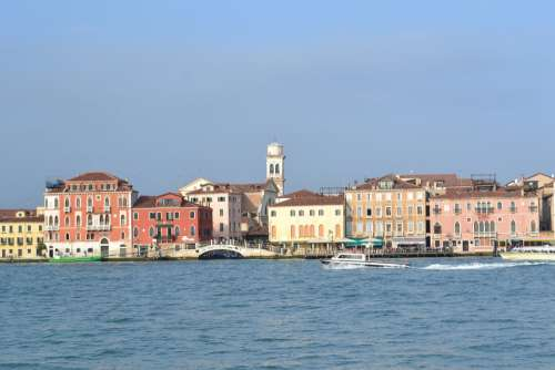 Venice Italy Sea Houses Wharf