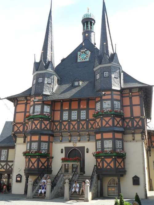 Vernigerode Germany The Town Hall Building Monument