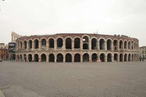 Verona Arena Monument Piazza Art History City