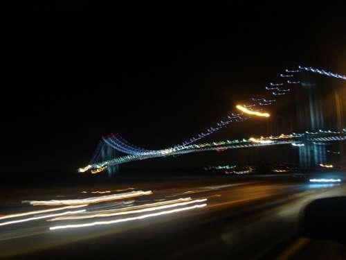 Verrazano Bridge Brooklyn Highway Traffic Lights