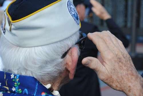 Veteran Vet Pearl Harbor Survivor Salute Saluting
