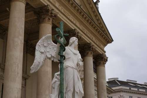 Vienna Architecture Church Statue Angel Religion