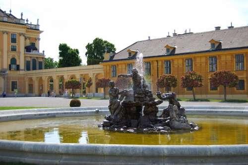 Vienna Schönbrunn Fountain Sunny Water
