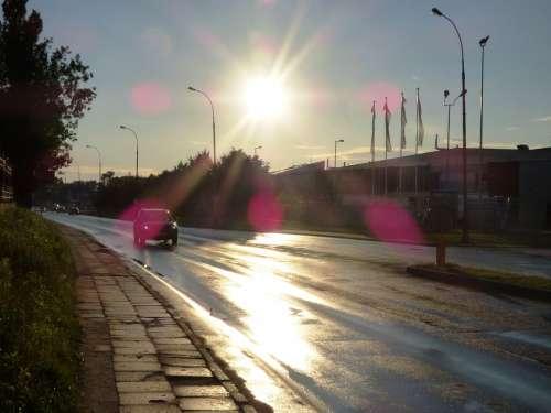 View The Sun West Way Reflex Sun Aura Landscape