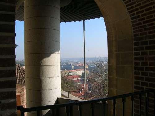 View Old Palace Detail Architecture Column Prague