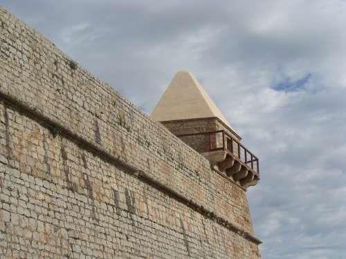 Villa Franch Old Rom Clock Tower Building Stones