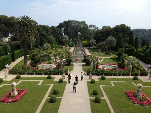 Villa Rothschild Nice France Garden Park