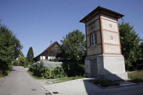 Village Rümlang Stone House Building Farmhouse