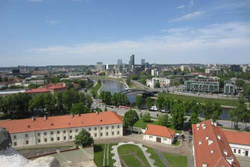 Vilnius Panorama Lithuania Europe City Baltic