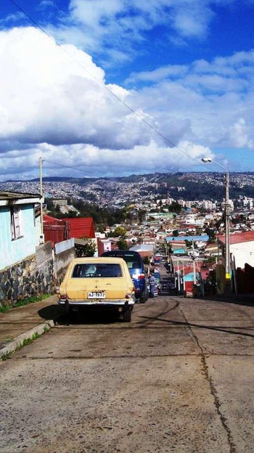 Viña Del Mar Chile Cars City Urban Road
