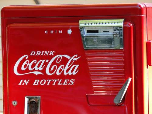 Vintage Coke Machine Red Old Retro Classic