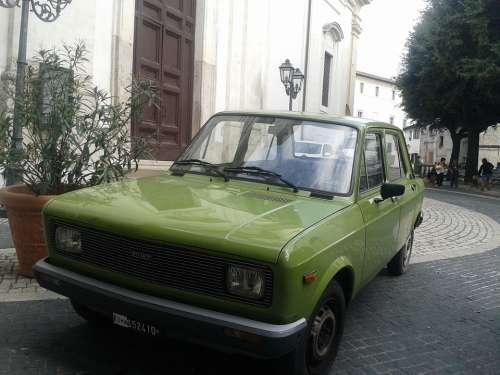 Vintage Car Retro Automobile Green Old