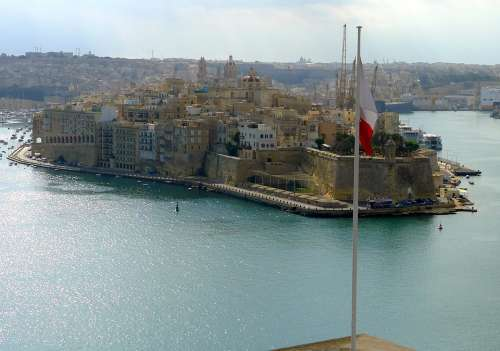 Vittoriosa Malta Mediterranean Walls Sea City