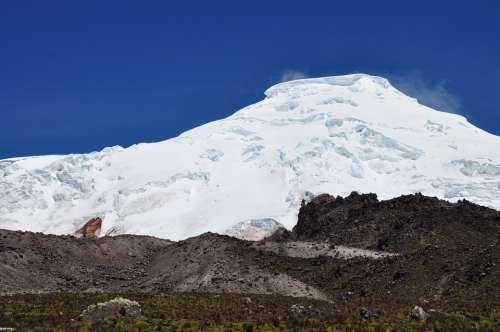 Volcano Antisana Nature Snow