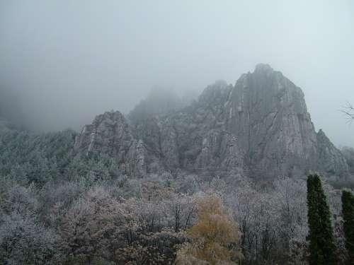 Vratsa Vratzata Gorge Chill Mist Fog Winter