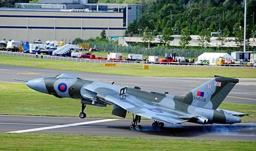 Vulcan Bomber Farnborough Air Show United Kingdom