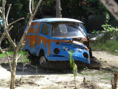 Vw Bus Volkswagen Camper Camping Bus Old Scrap