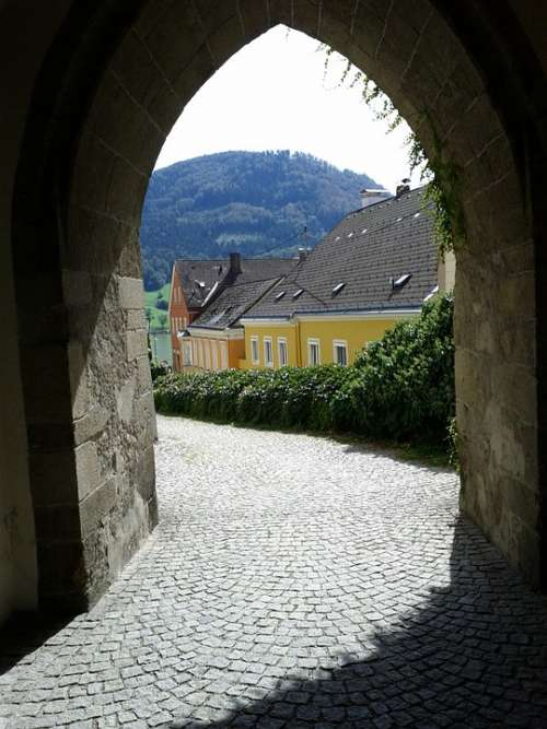 Wachau Arch Passage Away Patch Houses Eng Alley