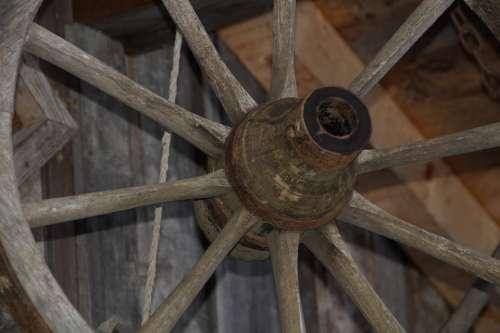 Wagon Wheel Spokes Wooden Wheel Old Wheel