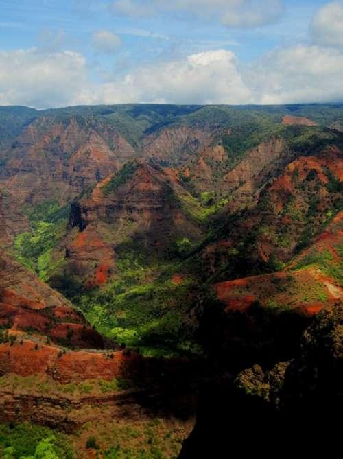Waimea Canyon Hawaii Kauai Landscape Nature