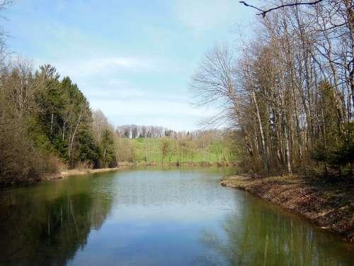 Waldsee Spring Upper Bavaria Achental Mirroring